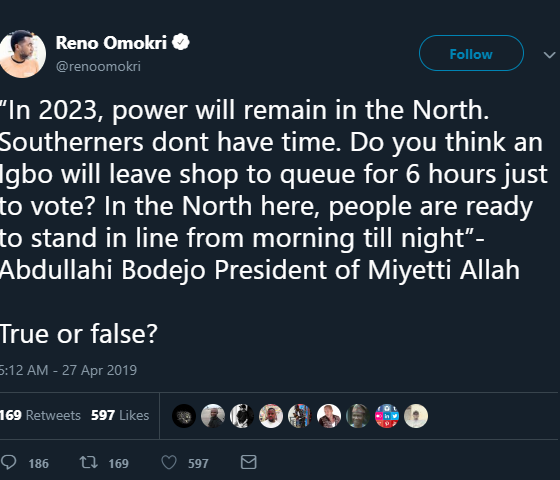 Power will remain in northern nigeria